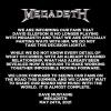 Megadeth - oświadczenie